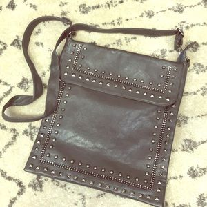 Handbags - Studded crossbody messenger bag